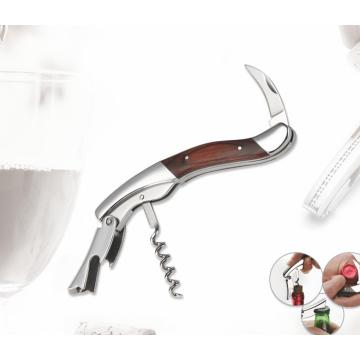 Deluxe Pakka Wood Handle Red Wine Opener