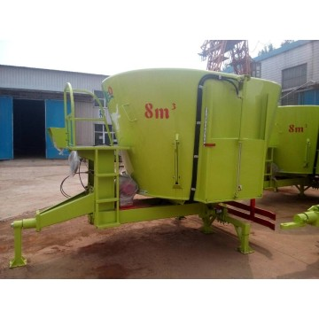 Horizontal TMR feeding mixer