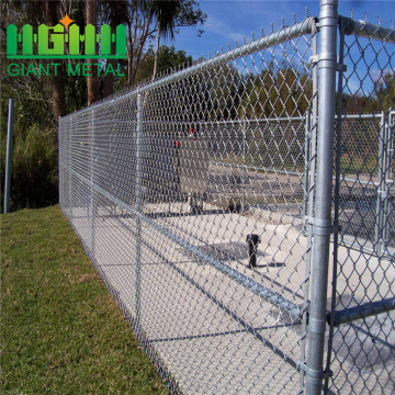 Low prices galvanized used chain link mesh fencing