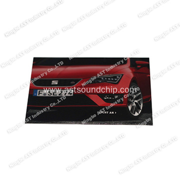S-1109 Magazine Card with LED, Postcard, Iinvitation Card with LED, Flashing Card