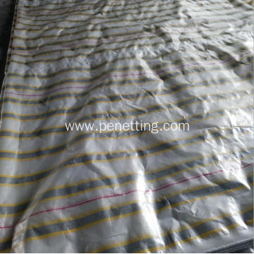Stripe Color PE Coated Tarpaulin with UV treated