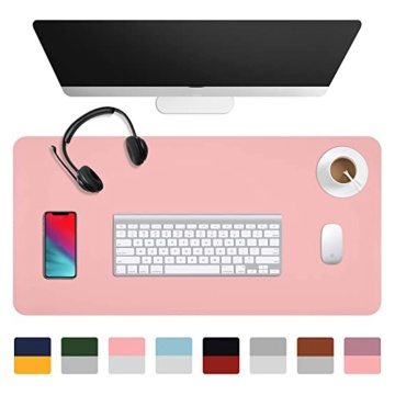Medium Mouse Pad Double-Sided Color Waterproof Desk Pad PU For Office