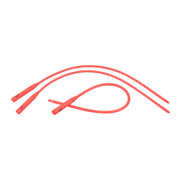 Disposable Urethral Catheter Red Latex