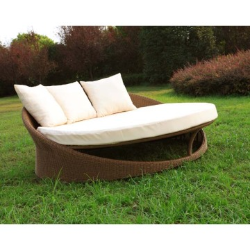 Outdoor PE Rattan Roundan Daybed