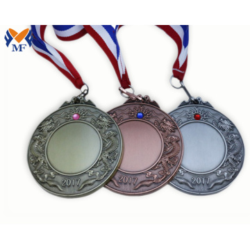 Blank awards ribbons and medallions for engraving