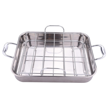 Stainless steel roasting pan with rack cooking pans