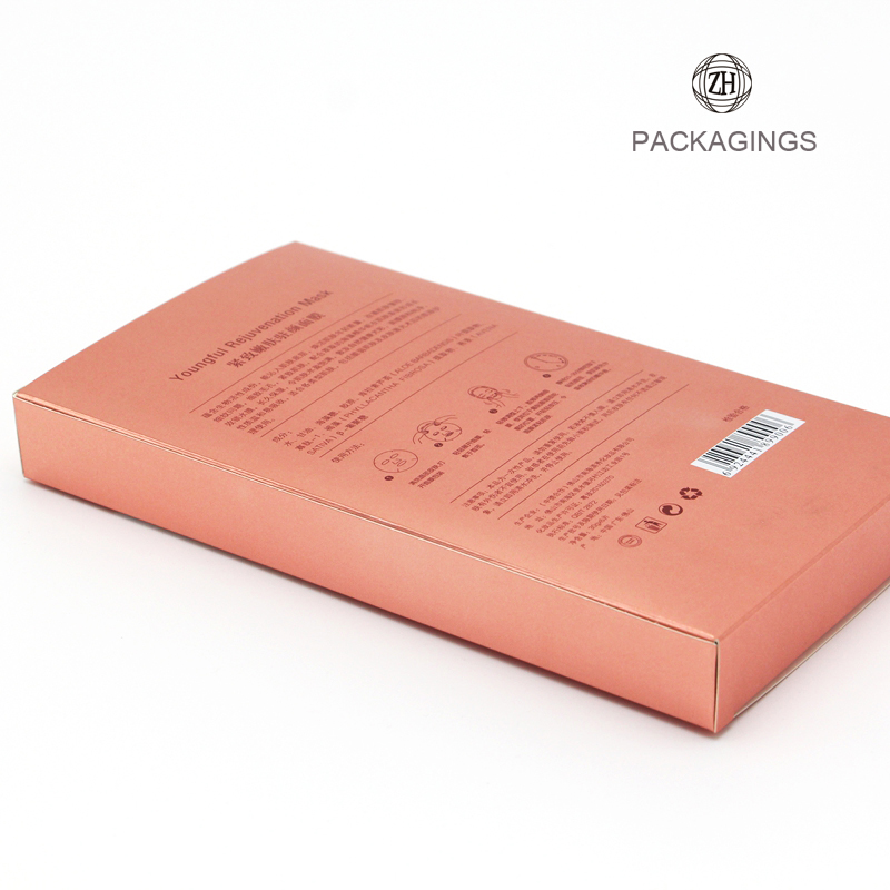Fancy face mask paper packaging box pink