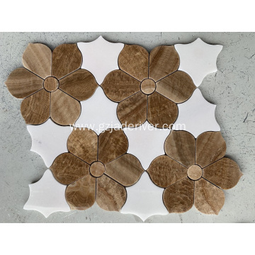 Flower Shaped Mosaic Tile for Decoration