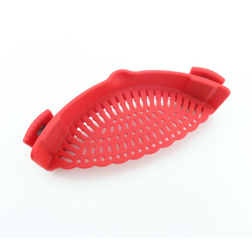 Silicone Clip-on Strainer for Spaghetti Pasta Colander