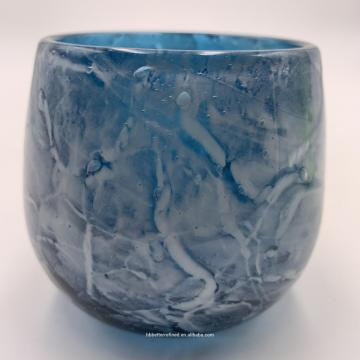 Wholesale blue sea bubble Glass Container