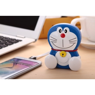 Hot Sale Doraemon cartoon charger 8000MAh machine cat jingle cat power bank external Portable Battery Charger with package