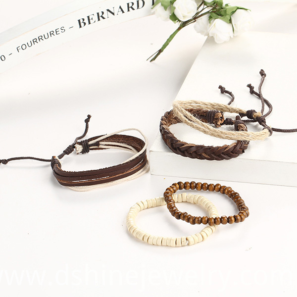 DIY Leather Wristbands Bracelet