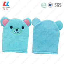 Bear blue style soft bath gloves