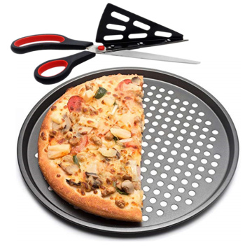 Crispy Vented Pizza Pan Set with Pizza scissors