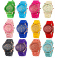 Grils Colorful Silicone Wrist Quartz Watch