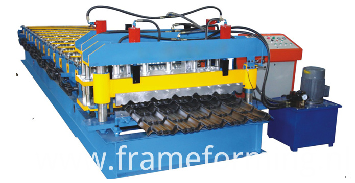glazed tile steel roofing machine 2