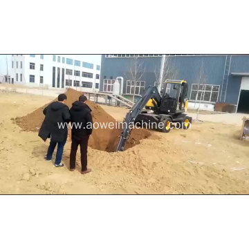Mini Wheel Excavator with Timber Grapple
