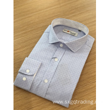 Fashion 100% cotton male stand up collar shirt