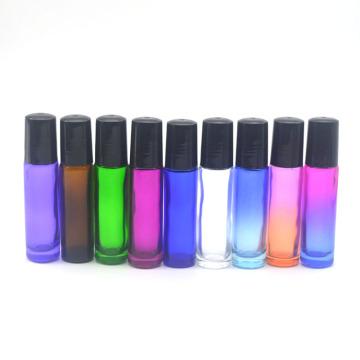 1pcs Colorful 10cc Roller Glass Bottle Empty Fragrance Perfume Essential Oil Bottle 10ml Roll-On Bottle