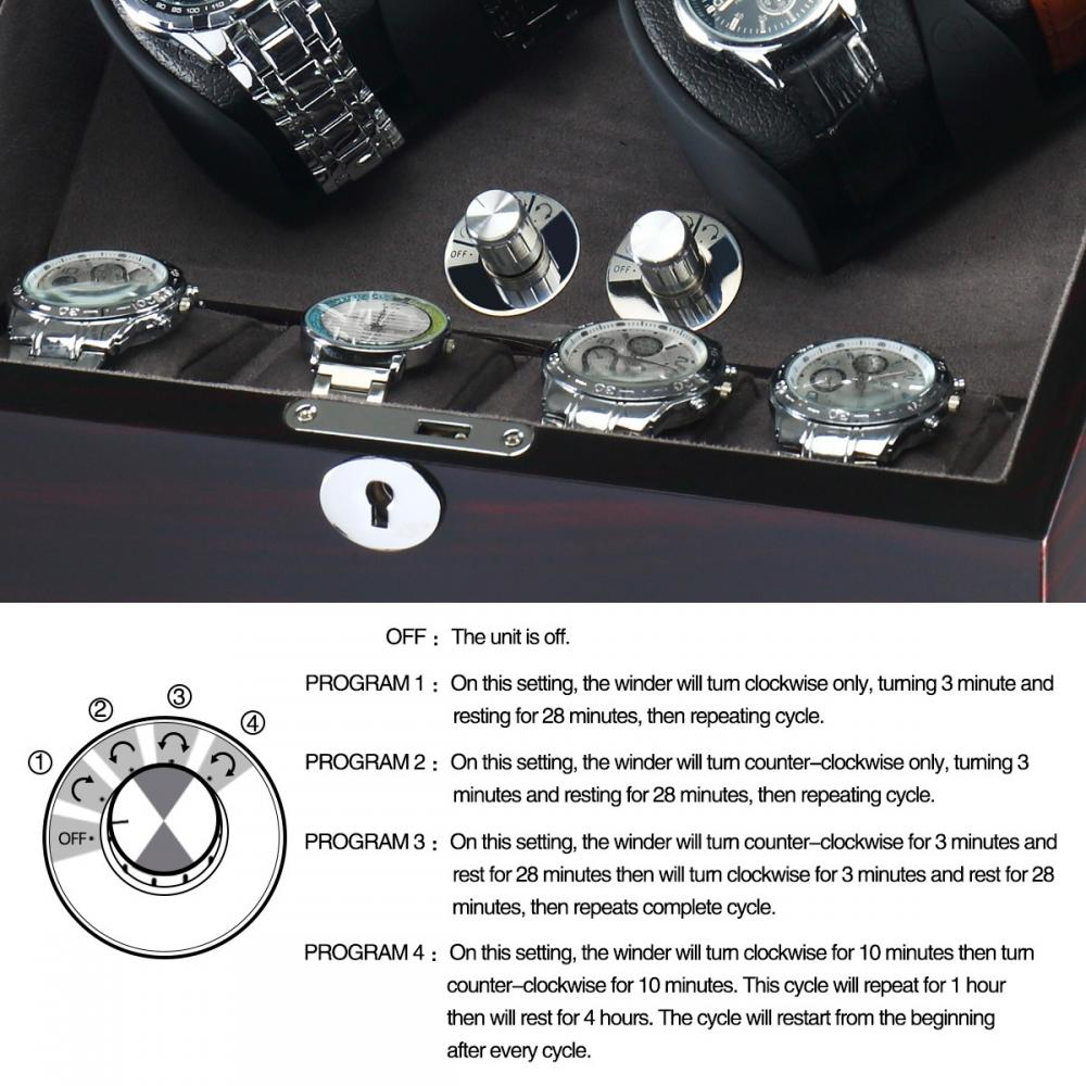 Ww 8222 Double Rotation Watch Winder For Display Details