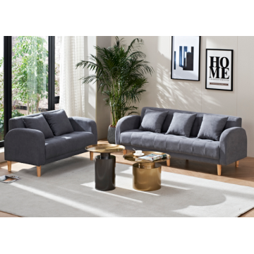LEISURE FABRIC SOFA GRAY
