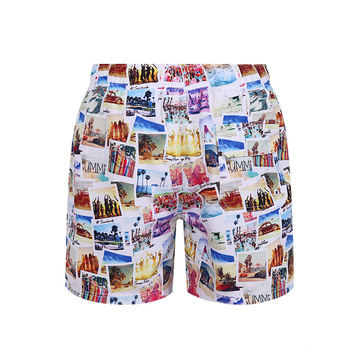Quick Dry Printed Swim Trunks Beach Wear Shorts