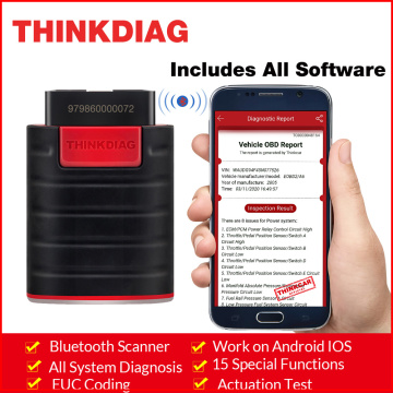 ThinkDiag All system Bluetooth obd2 Scanner with All software work on android IOS 15 Reset service obdii code reader Scanne