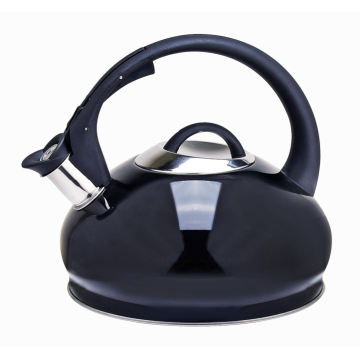 Stovetop tea kettle with whistling spout