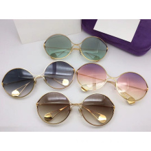 High End Metal Round Sunglasses For Women