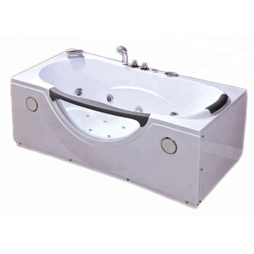 Single Person Freestanding Glass Whirlpool Corner Bathtubs