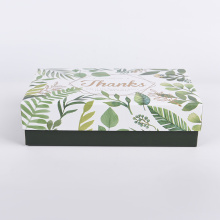 Green Leaf Multi-functional Paper Packaging Box with Lid