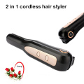 High capacity battery hair styling straightener