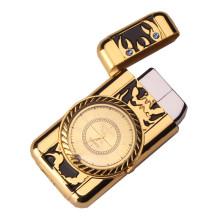 Multiple Shapes Clock Watch Quartz Lighter Compact Butane Jet Torch Cigarette Cigar Straight Fire Lighter NO GAS Men Gift