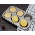 champagne gold carbon steel 6 cup muffin pan