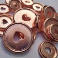 11PCS Rose Gold Binding Mushroom Hole Buckle DIY Notebook Plastic Discs Button Binder Accessories Buckle Mushroom Hole Book