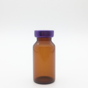 8ml Amber Sterile Serum Vials Purple Cap