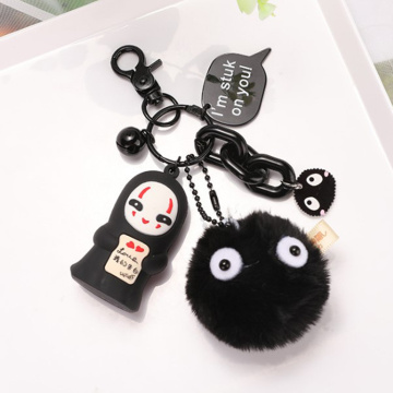 3D Promotional Cute Cartoon Animal pvc keychain