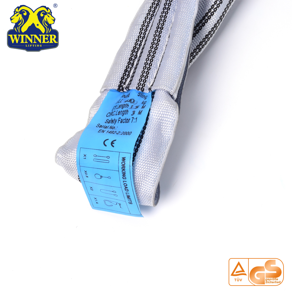 4T Heavy Duty Lifting Endless Round Polyester Sling