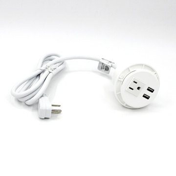 White Round USB Charger Custom