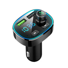 2020 new with flash FM transmitter modulator Bluetooth 5.0 hands-free car kit audio MP3 player, QC3.0 fast automatic car charger