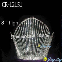 8 Inch Crystal Beauty Queen Fountain Crown