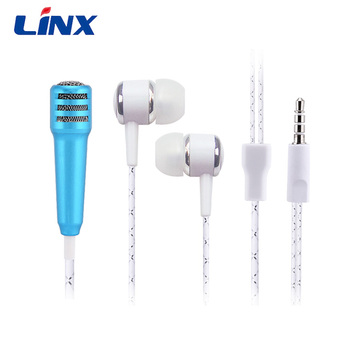 music mini microphone earphone for singing