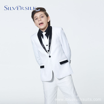 British Shawl Collar Jacket Pants White Blazer Set