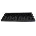 Durable Black Poker Chips Tray 500 Chips Holder Container for Party Casino Board Poker Game Accessory