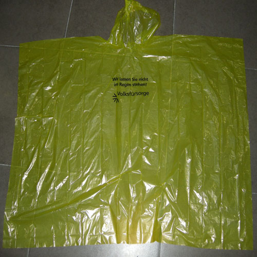 yellow color Emergency Rain Poncho