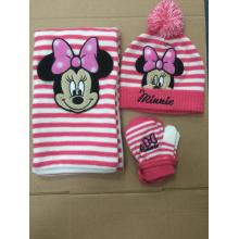 Disney Children Warm Knitting Hat Glove Scarf