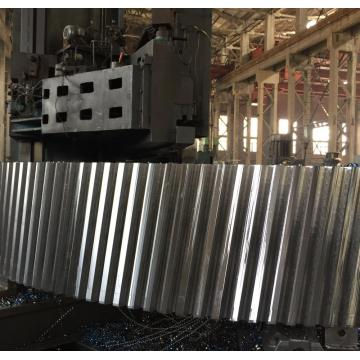 Casting steel helical gear for cement kiln