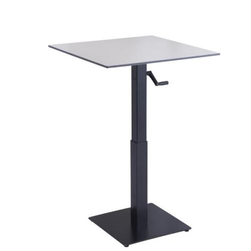 hand crank adjustable height bar metal table bas