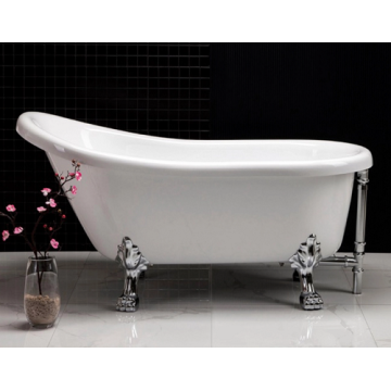 Freestanding Soaking Plastic Claw Foot Bath Tub