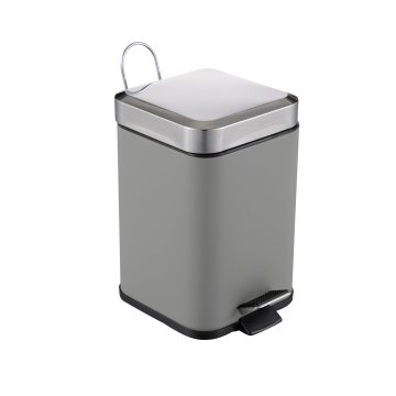 Square Shape Stainless Steel Trashbin